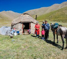 Yourte au Kirghizistan
